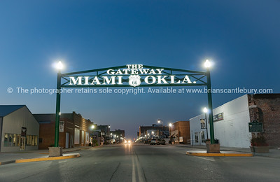 Gateway to Miami Oklahoma on Route 66.