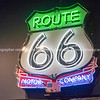 Neon sign shield shape for Route 66 Motor Company, USA.  one of the incredible variety of 66 signs seen along the historic route