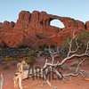 Skyline Arch at sunset, Arches National Park, Utah