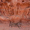 Eroded sandstone detail, Devils Garden, Arches National Park, Utah