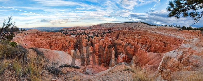 Panorama of Bryce Amphitheater from the Rim Trail near Sunset Point, Bryce Canyon National Park, Utah