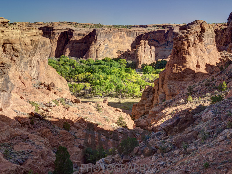 View from Tunnel Overlook, Canyon de Chelly National Monument, Arizona