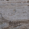Close up of inscriptions by P. Gilmer Breckinridge, 1859 VA and Jesse D. Morrow, 1866 from Michigan. El Morro National Monument, New Mexico