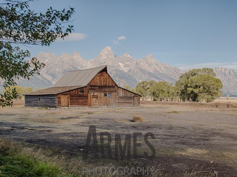 T.A. Moulton barn on Mormon Row  with Teton Range in the background