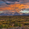 Sunset over the Teton Range
