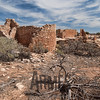 Hovenweep House with Hovenweep Castle in the background, Hovenweep National Monument, Colorado