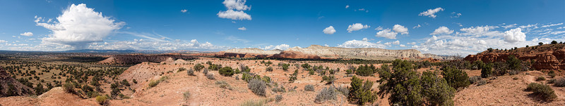 Panoramic view of Grand Staircase-Escalante National Monument from Shakespeare Arch Trail, Kodachrome Basin State Park, Utah (six images stitched)