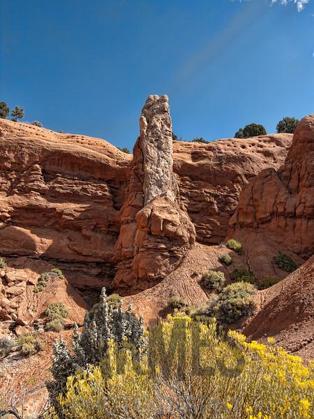 Sedimentary pipe on Shakespeare Arch Trail, Kodachrome Basin State Park, Utah