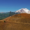 Top of Cinder Cone with Lassen Peak in the background<br /> Lassen Volcanic Park, California