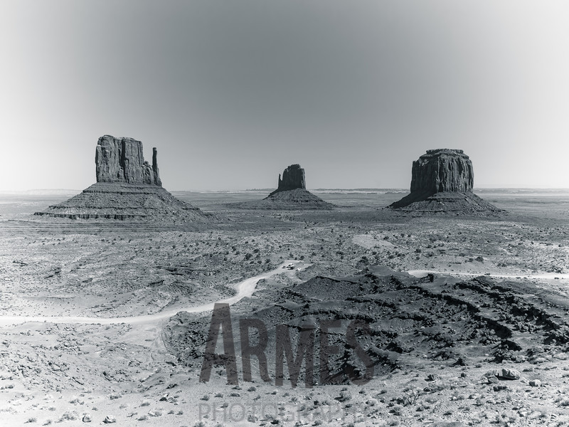 West Mitten, East Mitten & Merrick Buttes, Monument Valley, Navajo Tribal Park, Arizona