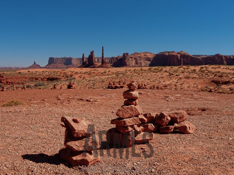 Totem Pole and Yei Bi Chei, Monument Valley, Navajo Tribal Park, Arizona