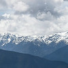 Panorama of the  Olympic Mountain Range  from  Hurricane Ridge