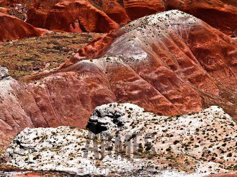 View of the Painted Desert from Tiponi Point<br /> Petrified Forest National Park, Arizona, USA