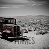 Abandoned section of Route 66, Petrified Forest National Park, Arizona, USA