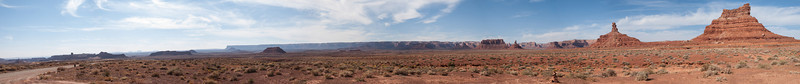 Panorama of Valley of the Gods, Utah