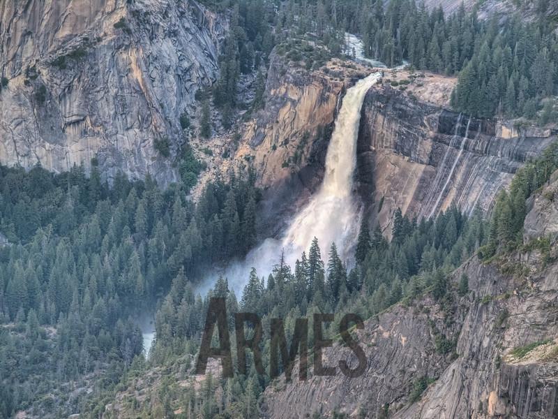 Vernal Fall from Glacier Point, Yosemite National Park, California