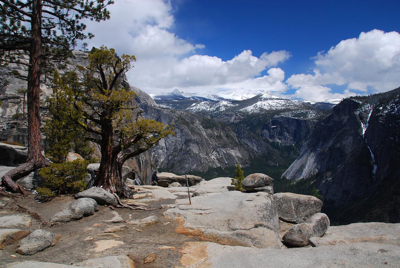 View from Upper Yosemite Falls, Yosemite NP,  CA