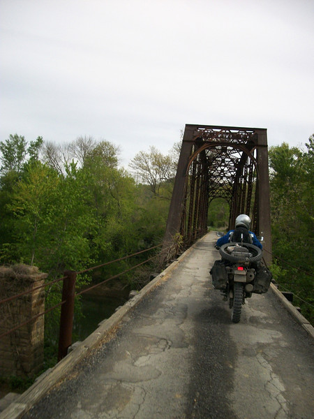 There were plenty of these old bridges along the TWVT...this ones in West Virginia