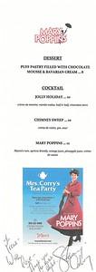 Mary Poppins menu