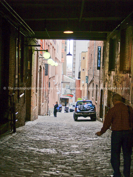 Back alley, Pike Place Market, Seattle.