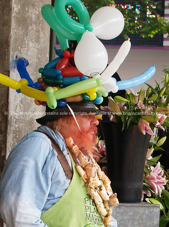 balloon man. Model released; no, for editorial & personal use.