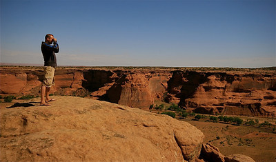 Junction Overlook, Canyon de Chelly National Monument. Arizona, USA.