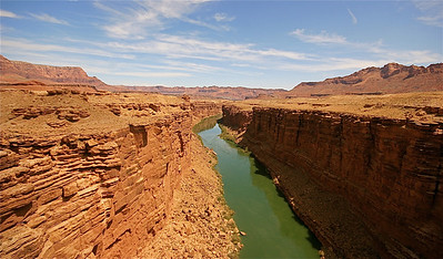 Colorado River vanaf de Navajo Bridge. Arizona, USA.