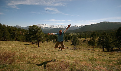 Uit de reeks: 'Jump!' Rocky Mountain National Park, Colorado, USA.