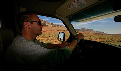 On the road again @ Vermillion Cliffs Highway. Arizona, USA.