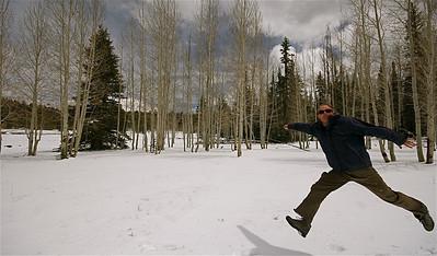 Uit de reeks: 'Jump!' Kaibab Forest, Arizona, USA.
