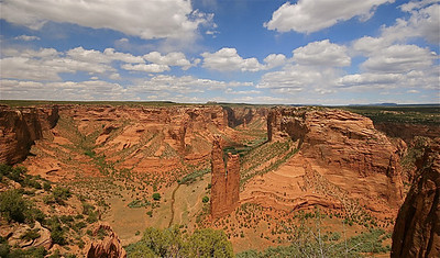 Spider Rock Overlook, Canyon de Chelly National Monument. Arizona, USA.