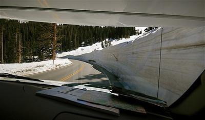 On the road again @ Trail Ridge Road. Rocky Mountain National Park, Colorado, USA.