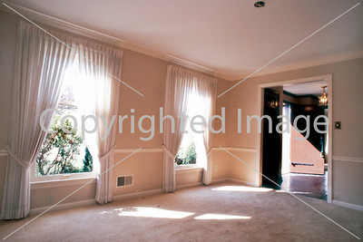 Pittsburgh, PA, Interior Showcase Home, Luxery Living Room with Two Windows, Empty.