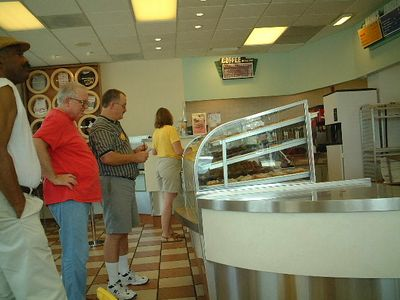 Winston Salem - queueing for doughnuts and making new friends