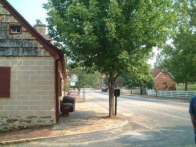 Winston Salem - Old Salem, empty street