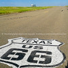 Texas USA September sign on road. Another  of incredible variety of 66 signs seen along the historic route