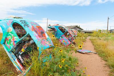 VW graffiti standing, Conway, Texas.