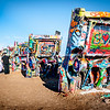 Cadillac Ranch, old cars standing field near Amarillo, Texas, United States