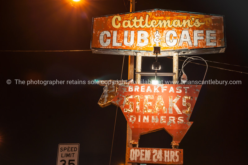 Cattlemans Club and Cafe , famous steak restaurant Amarillo, Texas, USA