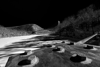 Bear Mountain Bridge and a frozen tributary to the Hudson River - almost Infra red