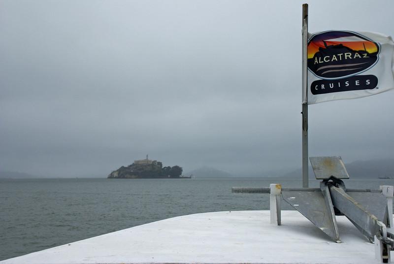 Approaching Alcatraz Island