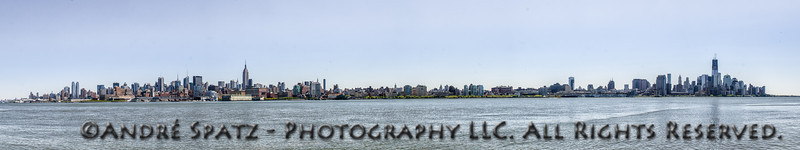 Panorama of Manhattan, One World Trade Center Tower now higher than the Empire State Building.