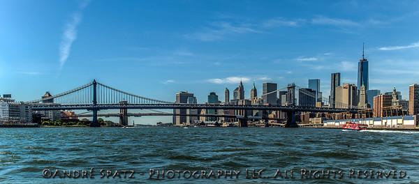 Manhattan & Brooklyn Bridges form the East River