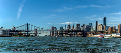 Manhattan & Brooklyn Bridges form the East River