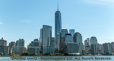 Downtown Manhattan - and the new World Trade Center.