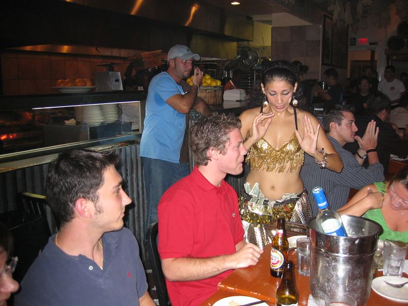 Belly Dancer at Opa.  I tried to get her to make Ben dance but she didn't understand.