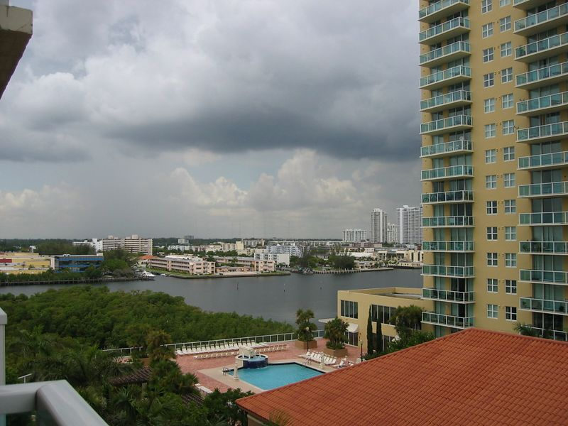 View of the Intercoastal Waterway from Ben's new apartment.