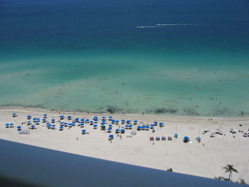 The beach at the Trump Sonesta Hotel
