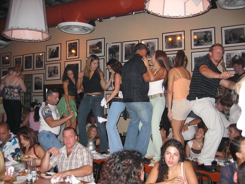 Taverna Opa on South Beach.  What a wild place.  LOUD music and dancing on the tables were common all night long.
