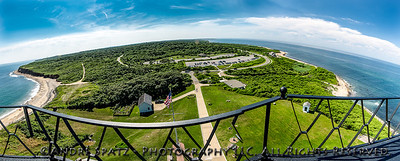 The Montauk State Park seen from the top of the lighthouse.